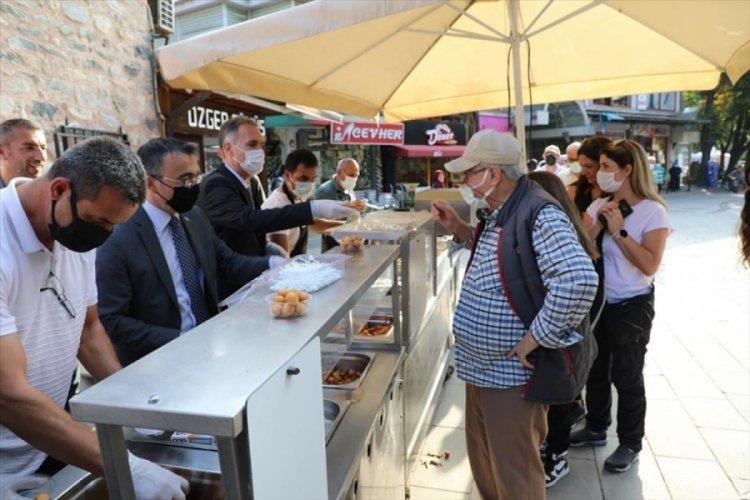 Bursa İnegöl'de Ahilik Haftası lokma ikramlarıyla kutlandı