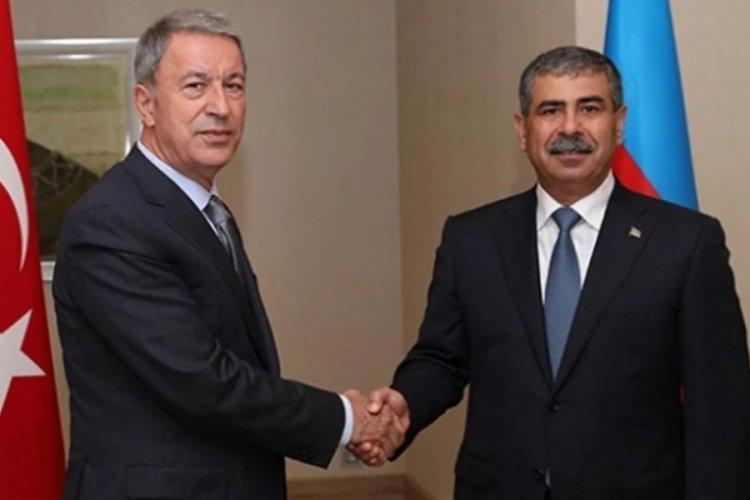 Bakan Akar ve Azerbaycanlı mevkidaşından ortak tatbikat açıklaması