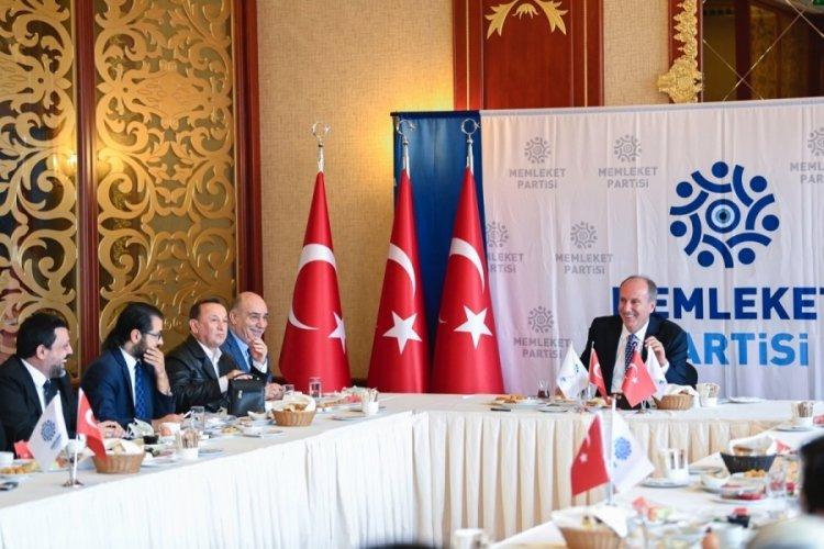 Memleket Partisi Genel Başkanı İnce: Kılıçdaroğlu, Akşener ayrı ayrı aday olmalı