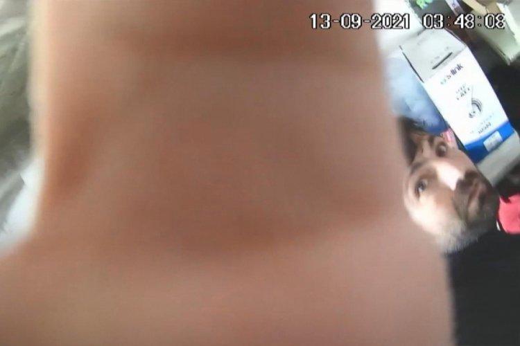 Bursa'da hırsızlar, kendilerini görüntüleyen güvenlik kamerasını da çaldı