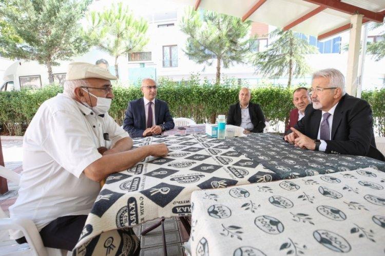 Bursa Nilüfer Belediye Başkanı Erdem Işıktepe'de incelemelerde bulundu