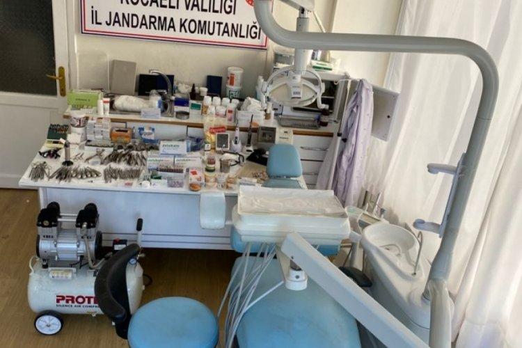 Yabancı uyruklu sahte diş hekiminin iş yerine baskın