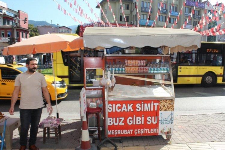 Bursa Fomara'da askıda simit uygulaması