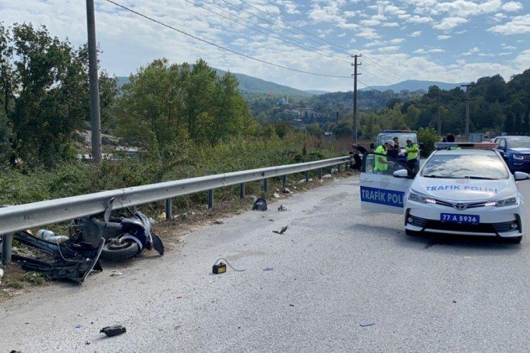 Yalova'da feci kaza! Yasağa rağmen 'U' dönüşü yaptı, canından oldu