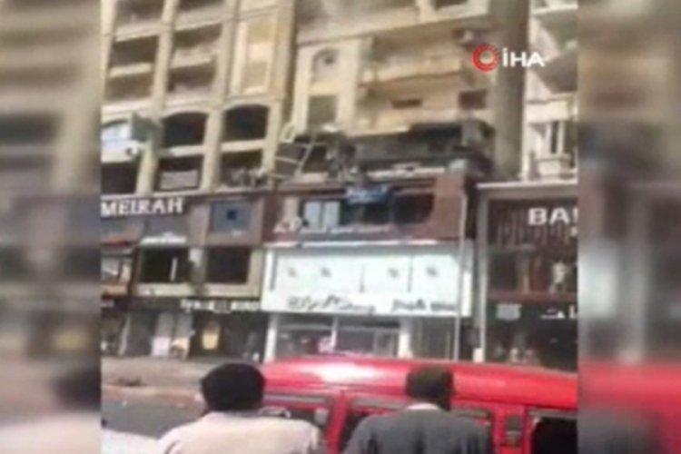 Mısır Damanhour'da klinikte oksijen tüpü patladı! 14 yaralı
