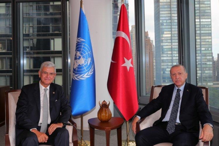 Cumhurbaşkanı Erdoğan New York'ta Volkan Bozkır ile görüştü
