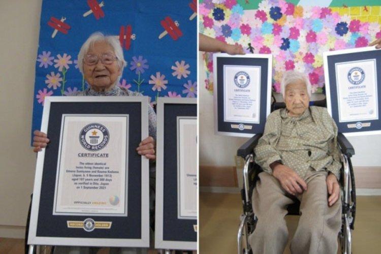 Dünyanın en yaşlı tek yumurta ikizleri Japonya'da