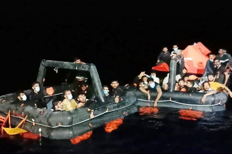 Muğla'da 132 göçmen kurtarıldı