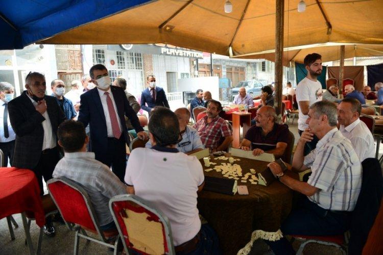 Belediye Başkanı Oktay Yılmaz Bursa Yıldırım'ı sokak sokak geziyor