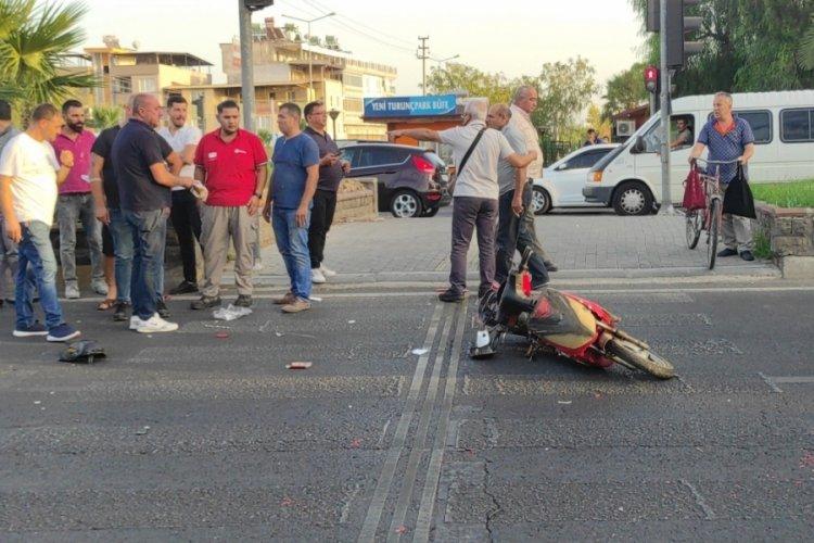 Aydın'da bisiklet sürücüsüne çarpıp kaçan şahıs, kırık dikiz aynasından yakalandı