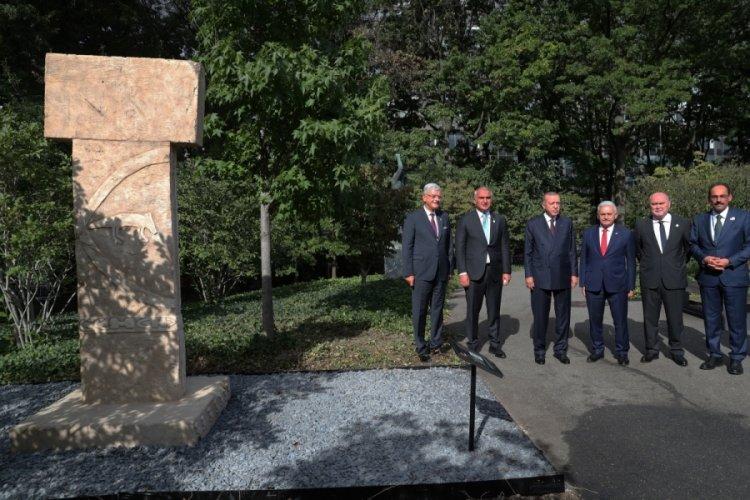 Cumhurbaşkanı Erdoğan, New York'taki Göbeklitepe Anıtı'nı gezdi