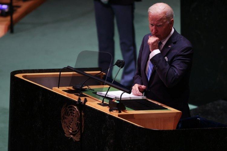 ABD Başkanı Biden konuşurken salondaki boş koltuklar dikkat çekti