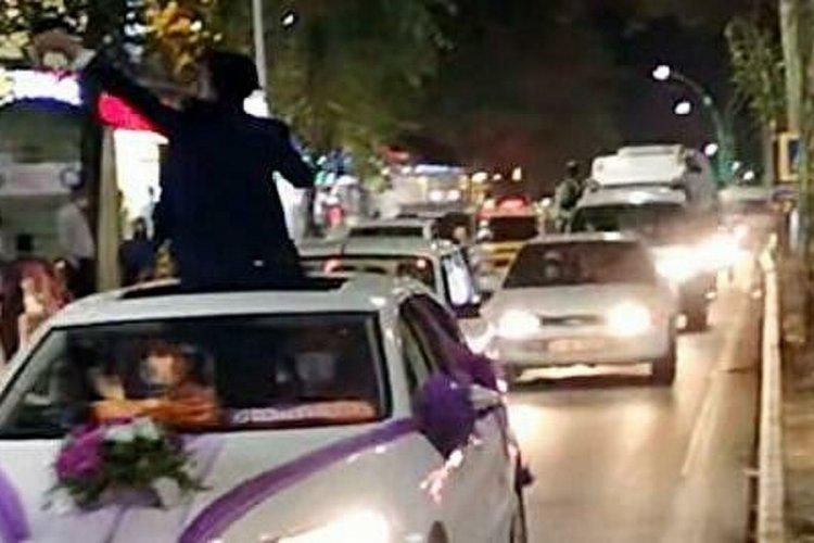 Fransa'da Türk düğün konvoyuna ceza kesildi!