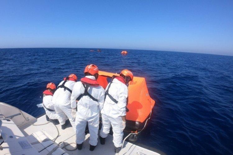 Didim'de 39 kaçak göçmen kurtarıldı