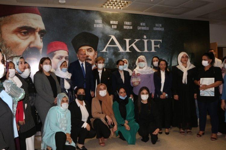 Bakan Soylu Mehmet Akif Ersoy'un hayatını anlatan 'Akif' filminin galasına katıldı
