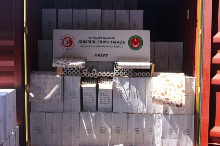 Hatay'da 12,5 milyon liralık kaçak ticari ürüne operasyon!