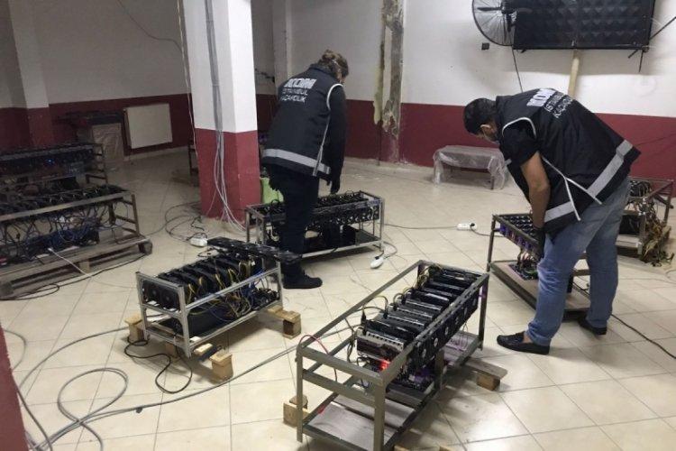İstanbul'da kripto para madenciliği operasyonunda ele geçirilenler sergilendi