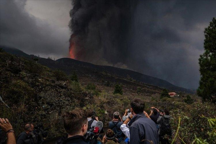 Kanarya Adaları'nda yanardağdaki şiddetli patlamalar sürüyor