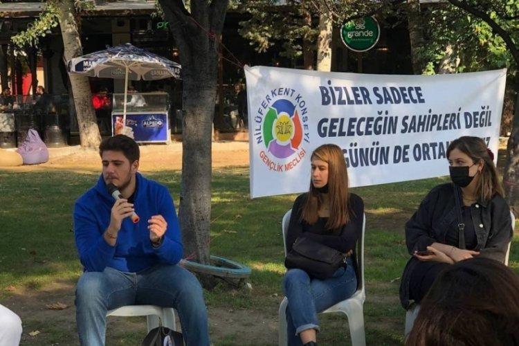 Bursa Nilüfer'de gençler iklim için grev yaptı
