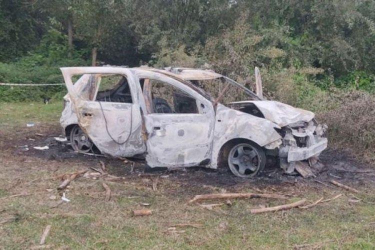 Amatör futbolcu yanan aracında ölü bulundu