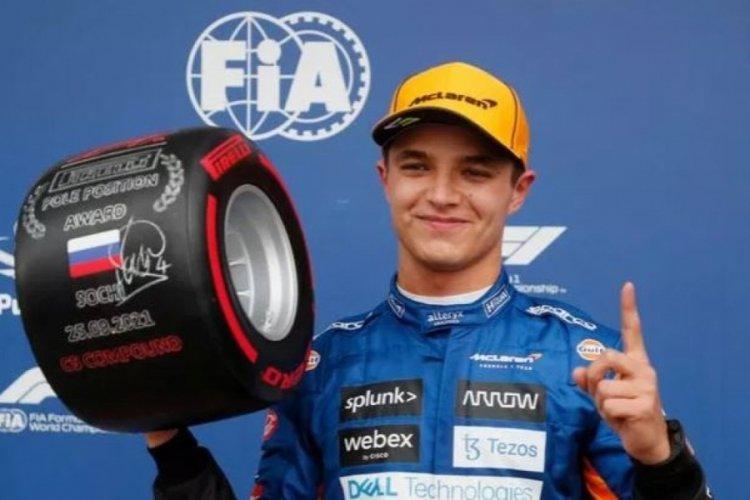 Formula 1 Rusya Grand Prix'sinde pole pozisyonu Lando Norris'in
