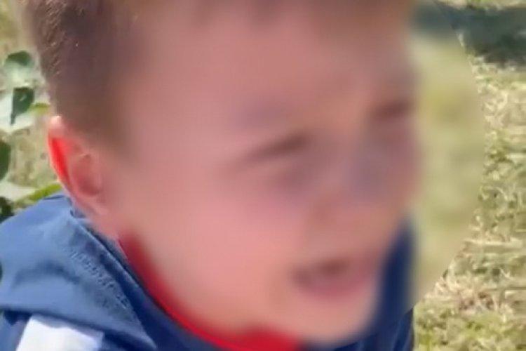 İstanbul'da oğluyla kavga eden 7 yaşındaki çocuğu korkutarak kameraya kaydetti
