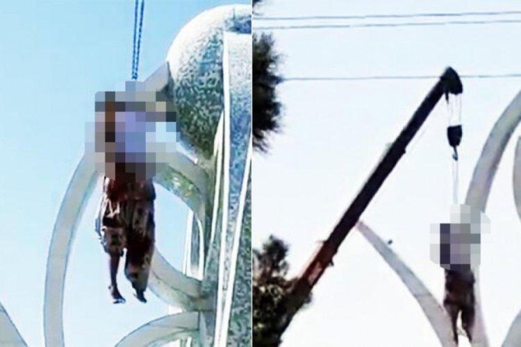 Taliban'ın görüntüleri kan dondurdu! Vince asarak infaz ettiler