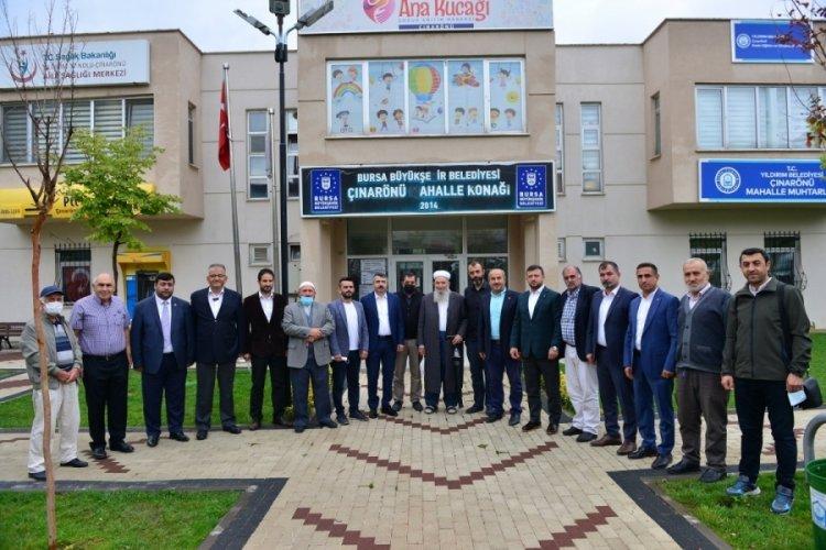 Bursa Yıldırım Belediye Başkanı Yılmaz, Çınarönü sakinleriyle bir araya geldi
