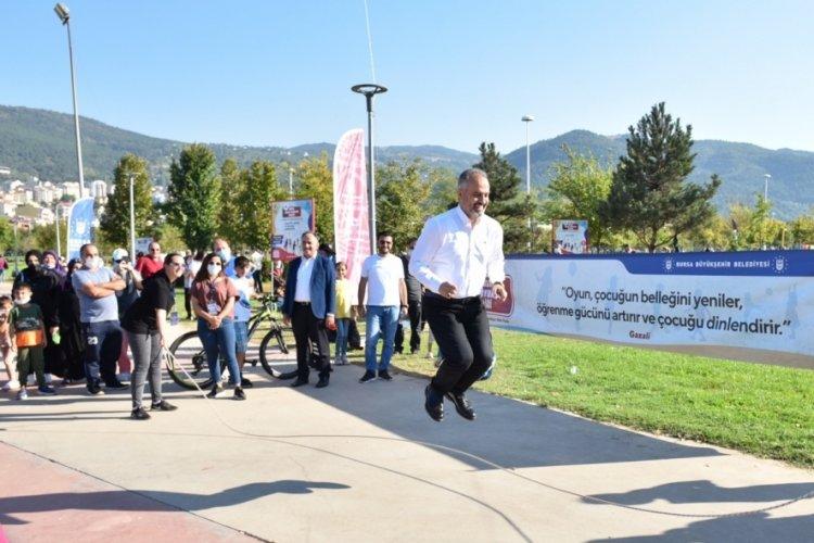 Bursa'da Sokak Oyunları Şenliği düzenlendi