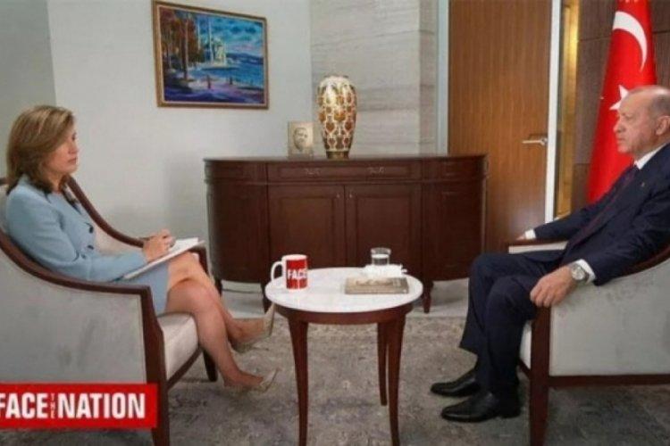 Cumhurbaşkanı Erdoğan, CBC kanalında konuştu: ABD, terör örgütlerine silah yardımı yapıyor