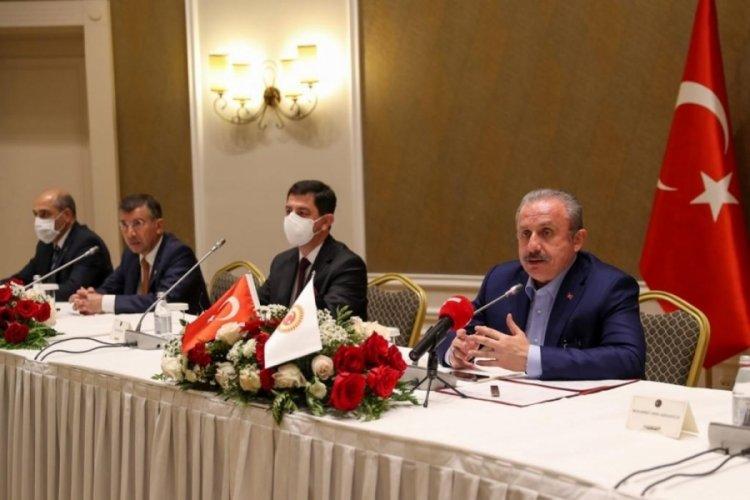 Mustafa Şentop, Kazakistan'da Türk iş adamları ile bir araya geldi