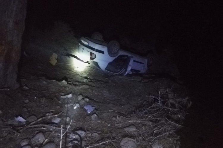 Antalya'da şarampole devrilen araçta bir kişi öldü