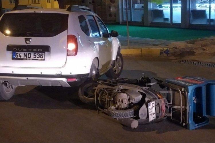 Motosiklet sürücüsünü ekipmanları kurtardı