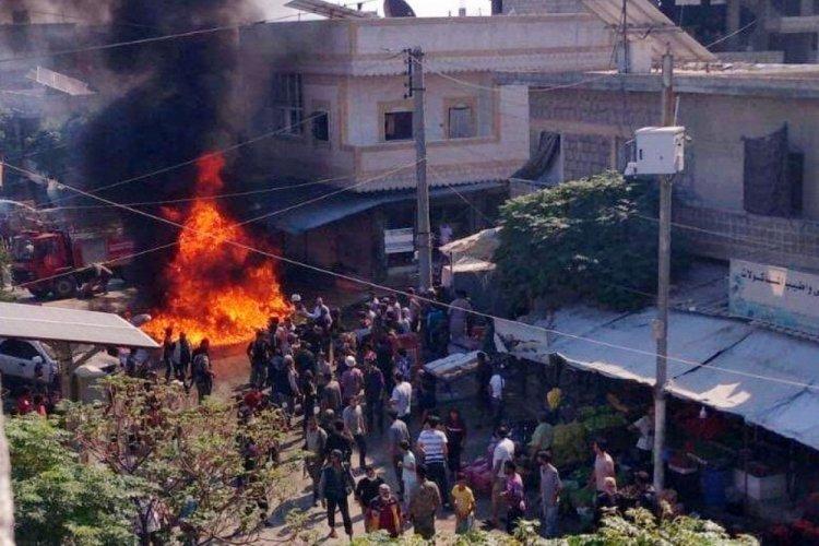 Cerablus'ta bombalı terör saldırısı! 14 kişi yaralandı