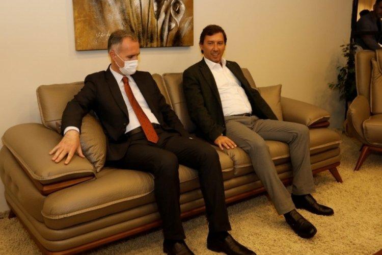 Bursa İnegöl Belediye Başkanı Taban'dan Modef Expo'ya ziyaret