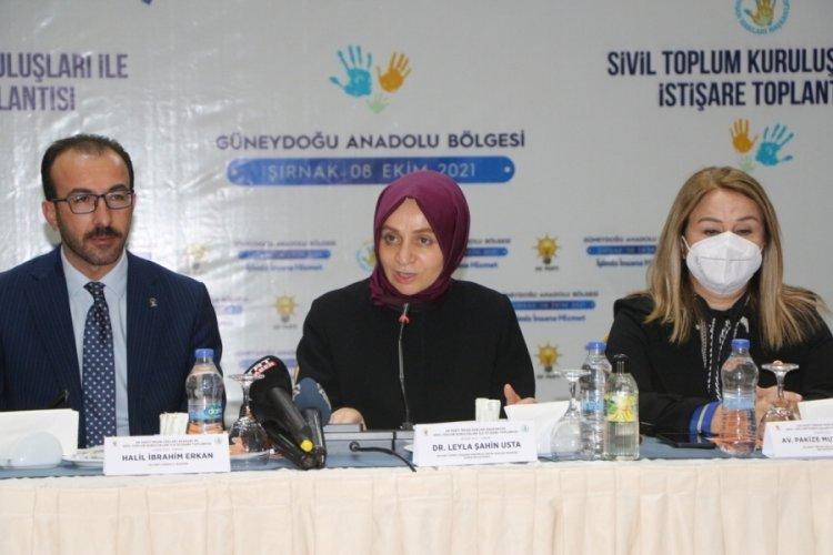 AK Parti'li Leyla Şahin Usta: Bugün ülkemizde Kürt sorunu yoktur