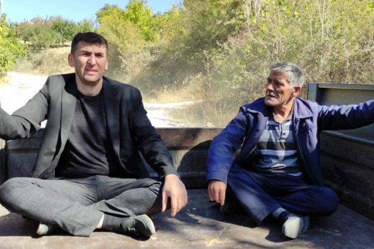 Bursa'da köylülerden ilginç böbrek taşı dökme yöntemi