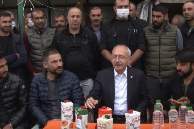 Kılıçdaroğlu, Ümraniye'de geri dönüşüm işçilerini ziyaret etti