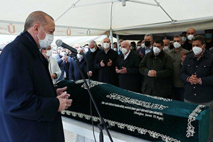Cumhurbaşkanı Erdoğan, Ahmet Gür'ün cenaze törenine katıldı