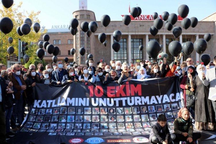 10 Ekim Ankara Garı katliamında ölen 103 kişi anıldı