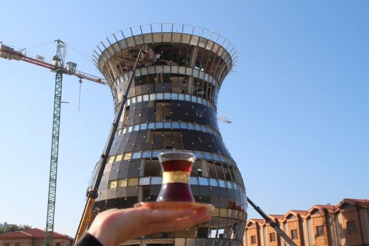 Rize'deki dünyanın en büyük çay bardağı binası Guinness'e aday