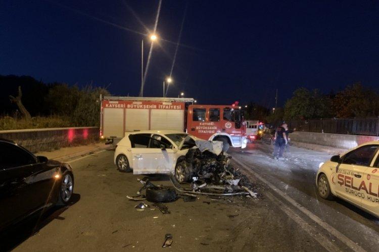 Kayseri'de facia gibi zincirleme kaza: 6 yaralı