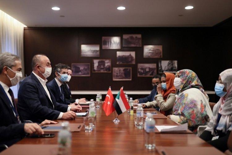 Çavuşoğlu, Sudanlı mevkidaşı ile görüştü