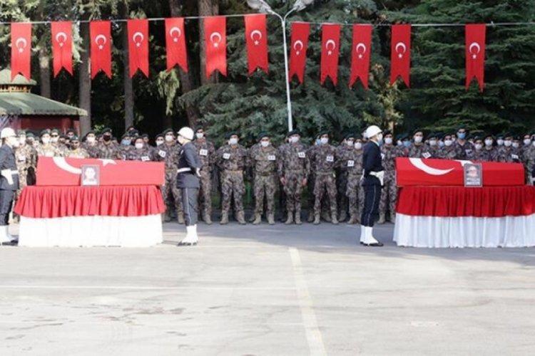 Fırat Kalkanı Harekatı bölgesinde şehit olan iki polis için tören düzenlendi