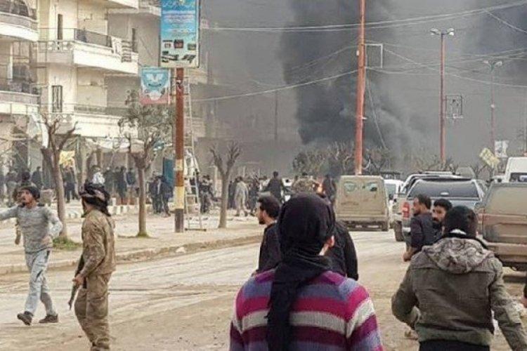 Suriye'ninAfrinbölgesinde PKK/YPG'den bomba yüklü araçla saldırı!