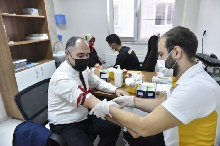 Bursa Büyükşehir Belediyesi BUSKİ Genel Müdürlüğü'nde sağlık taraması
