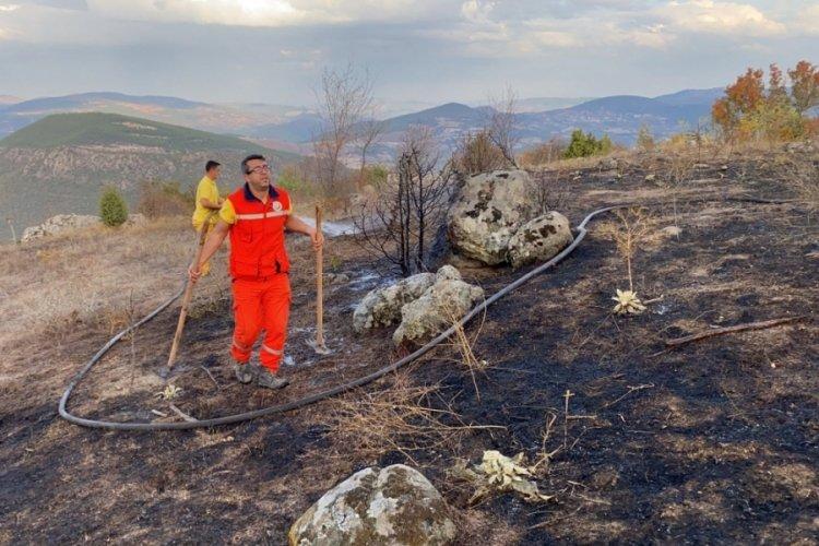 Balıkesir'de ormanlık alanda başlayan yangın büyümeden kontrol altına alındı