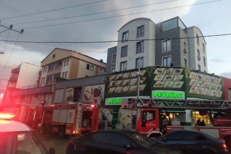 Bursa Kestel'de apartmanda yangın