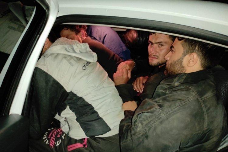 Bitlis'te 29 kaçak göçmenin yakalandığı iki otomobilin sürücüleri tutuklandı