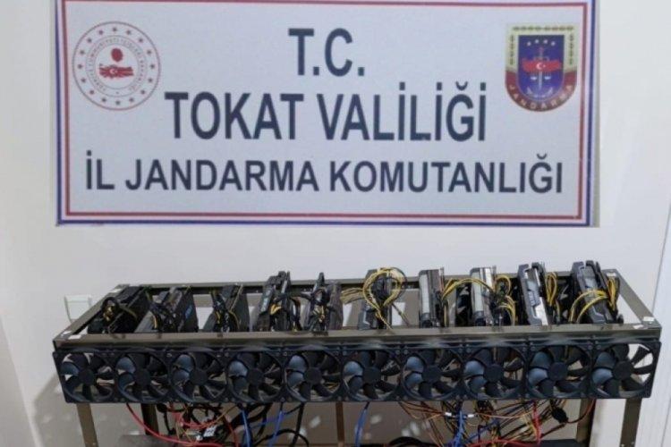 Tokat'ta yurt dışından kaçak olarak getirdiği cihazlarla kripto para üreten şüpheliye gözaltı
